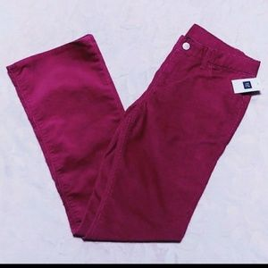 NEW! pink corduroy pants 12R gap kids
